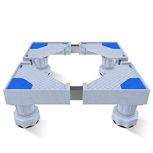 Ajustable Soporte Lavadora Para Nevera Secadora Pedestales Y Marcos Largo 44-75cm Ancho 45-75cm, Altura 10-12 Cm,4 Piernas Base Para Lavadora FrigoríFico(blue)