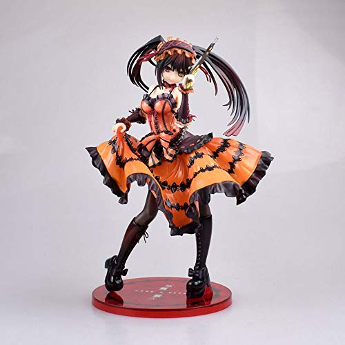 QIYHB Fecha EN Vivo Tokisaki Kurumi Pesadilla Versión teatral de Pose de pie Material de PVC Figura de Anime Modelo Juguetes en Caja Regalos