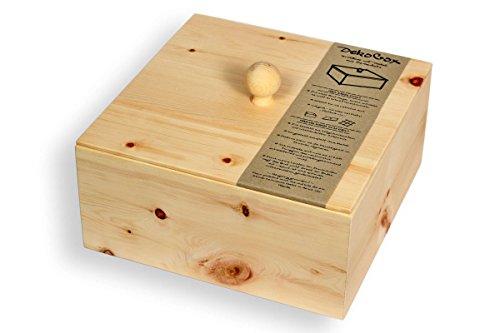 Brotdose aus Zirbenholz - 3 teilig: Brotbox & Deckel & Auflage-Gitter - Handmade in Austria