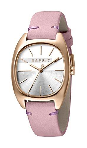 Esprit Damen Analog Quarz Uhr mit Leder Armband ES1L038L0065