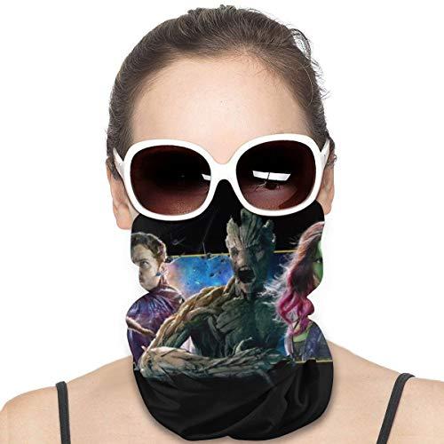 Yellowbiubiubiu Rocket Raccoon y Groot Variedad Turbante, protección contra el polvo para hombres y mujeres, funda para cuello, polainas para verano, ciclismo, senderismo, pesca, deportes al aire libre