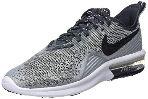 Nike Women's Air Max Sequent 4 Running Shoe Wolf Grey/Black/Anthracite/White Size 7 M US