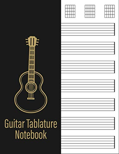 Guitar Tablature Notebook: Pretty guitar tab book for girls and kids - Cute bass guitar blank music sheet 120 pages   Gift For Musicians, Students and Teachers