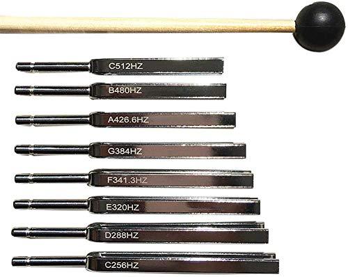 CNMGM Aluminium-Tuning-Gabel 8 Tuning Gabel-Sätze, Physische Schwingungs-Tuning-Gabel Stahl-Tuning-Gabel-Set, Yogaton-Vibration-Tuning-Gabel-Set
