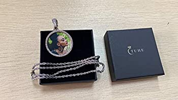 TUHE Hip Hop Jewelry Custom Necklace with Picture Personalized Photo Necklaces for Women Men Round Pendant Choker Necklaces