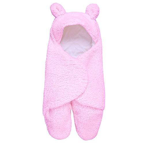 DBSUFV Saco de dormir para bebé Envolver recién nacido Algodón puro Recién nacido Bebé envuelto Cocoon Cochecito de invierno Saco de dormir con pierna dividida (Rosa)