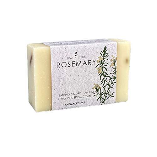 SOAP-n-SCENT by Aximo | FAIR TRADE Seife Rosmarin (1 x 100 g) | Natürliche Feste Körperseife Und Duschseife, Vegan, Handgemacht, Bio Naturseife | Körperpflege und Gesichtspflege