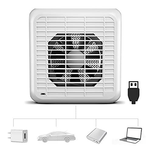 DOUYUAN Mini acondicionador de Aire portátil 7 Color Light Humidifier Purifier USB Desktop Air Cooler Fan (Color : White)