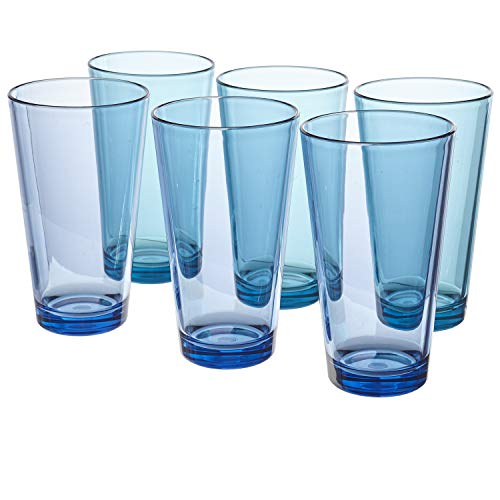 US Acrylic Water Tumbler, Multicolor, 20 Ounce (Pack of 6)