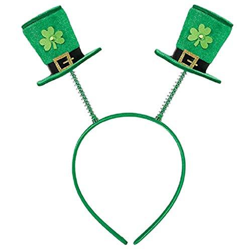 minjiSF Sombrero unisex para adultos, color verde, para el da de San Patricio, estilo shamrock, Kobold, arco iris
