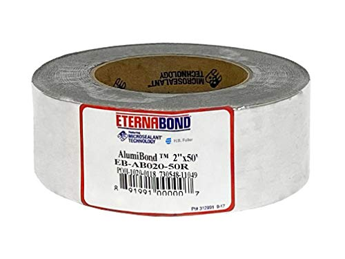 EternaBond - Cinta de reparación de techo AS-2-50R, 2' x 50 pies, 4 Mil de aluminio (AS250)