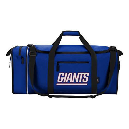 Bolsa de Viaje Oficial de la NFL, Multicolor, 28 x 11 x 12 Pulgadas., NFL New York Giants Steal Duffel, C11NHLC72001017RTL, Azul, 28' 11'x12'