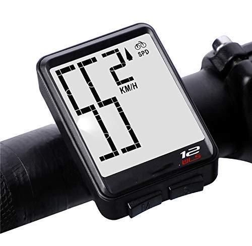LQUIDE sans Fil Grand Compteur de Vitesse numérique Compteur kilométrique Accessoires de vélo étanche à la Pluie rétro-éclairage