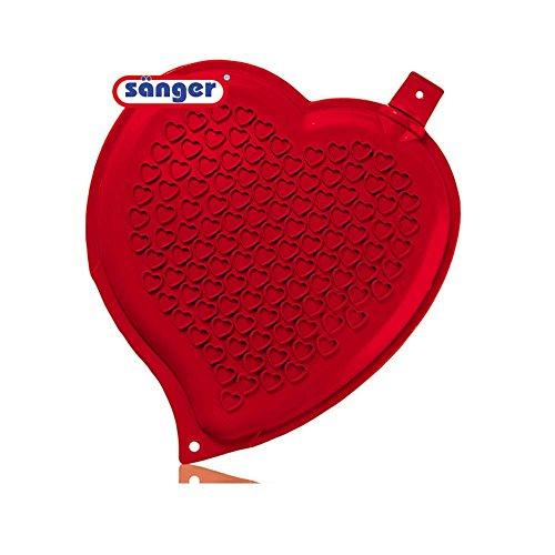 Herz-Wärmflasche 1,65 Liter, Herz Herzform Wärmeflasche ohne Bezug, rot