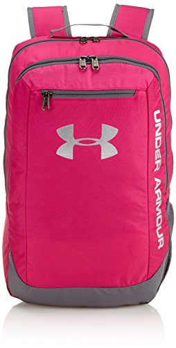 Under Armour Ua Hustle Backpack Ldwr, Mochila para Hombre, Rosa (Tropic Pink), 45 x 30 x 20 cm, 24 Liter