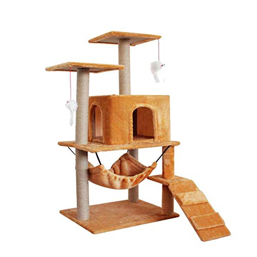 ZHICHUAN Creative Plush Cat Scratch Post Cat Den Shelf Luxury Cat Tree Kitty Toy Lounge Climbing Frame Cat Jumping