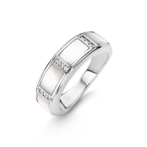 Ring zilver 925 Ti Sento Milano, parelmoer wit zirkonia 12023MW