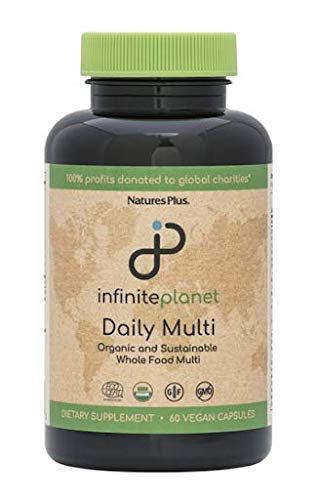 NaturesPlus Infinite Planet Daily Multi - 60 Capsules - Organic and Sustainable Whole Food Multi - 30 Servings