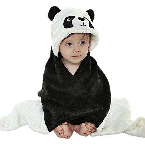 Très Chic Mailanda Bébé Sortie de Bain Animaux-Peignoir de Bain à Capuche-Serviette Peignoir à Capuche pour bébé 0-2 ans(100 * 100) (panda)