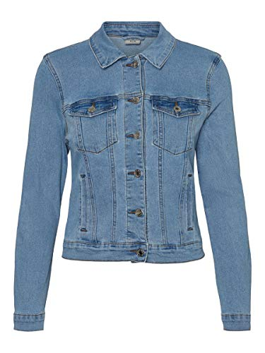 VERO MODA Female Jeansjacke Kurze Slight Blue Denim