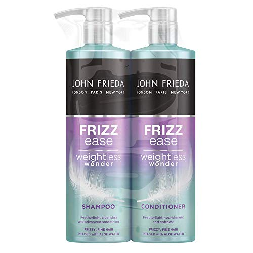 John Frieda Frizz Ease Weightless Wonder Shampoo and Conditioner Duo Pack for Frizzy, Fine Hair, 2 x...