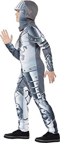 Smiffys Kinder Deluxe Ritter Kostüm, Jumpsuit und Kapuze, Größe: M, 43168 - 4