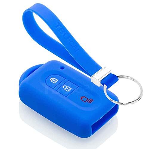 TBU car Funda Carcasa Llave Compatible con Nissan - Funda de Silicona - Cover de Llave Coche - Azul