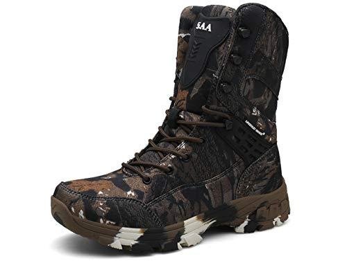 QJRRX Männer taktischer Kampf Militärstiefel hohe Aufstiegs-Wanderschuh Jagd-Schuhe für Männer Special Force Außen Wüste Anti-Rutsch-wasserdichte Schuhe 39-47