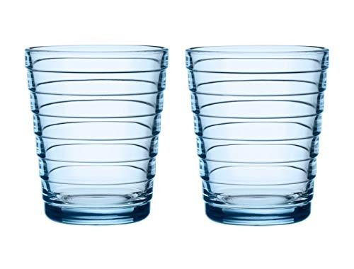 Iittala set van 2 Aino Aalto glazen bekers 22 cl aqua blauw Limited Edition speciale kleur 2018