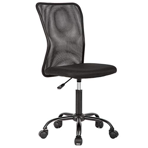 Heavy Duty Structure Black Mesh Office Chair Computer Middle Back Task Swivel Seat Ergonomic Chair with 360° Swivel Perfect for Home or Offices Use