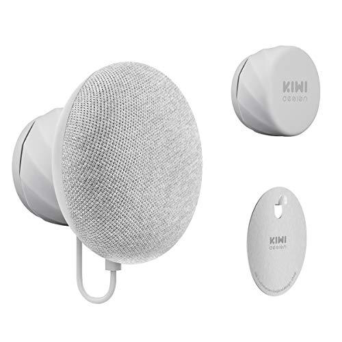 KIWI design Soporte para Nest Mini de Google (2nd Gen), Montaje de Salida de Ahorro de Espacio Excelente Gestión de Cables para Nest Mini de Google (Gris Claro)