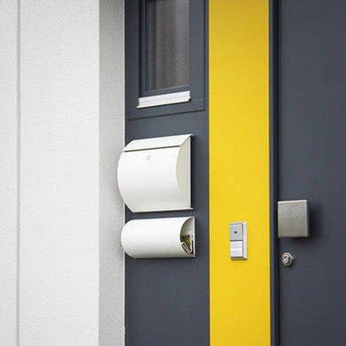 Max Knobloch Briefkasten Honolulu weiß (RAL 9010) 10 Liter Wandbriefkasten - 3