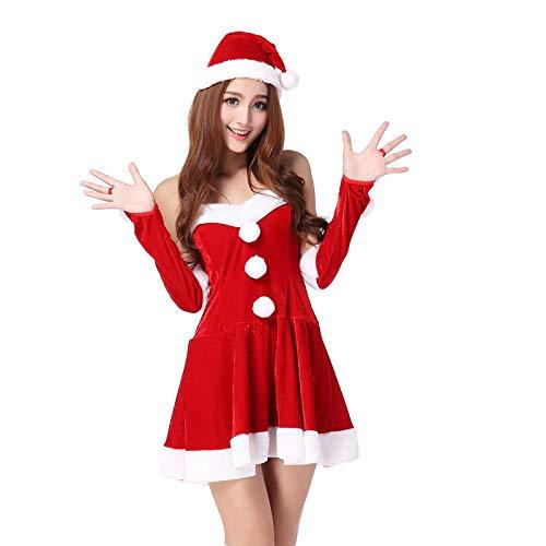 FONXOS Muñecas eróticas para Mujer Disfraces eróticos para Mujer Lencería Sexy Disfraz de Navidad Sexy Princesa Uniforme Tentación Traje @ Rojo Código