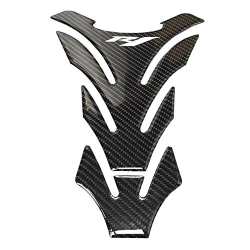 3D Resin Tankpad Qualität for Yamaha R1 Raised Fuel Tank Pad Black Carbon Hart- Aufkleber Filler Dekorative Schutz