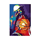 Basketball Legend Superstar Michael Jordan Sports Bedroom Posters Canvas Poster Wall Art Decor Print Picture Paintings for Living Room Bedroom Decoration Unframe:12×18inch(30×45cm)