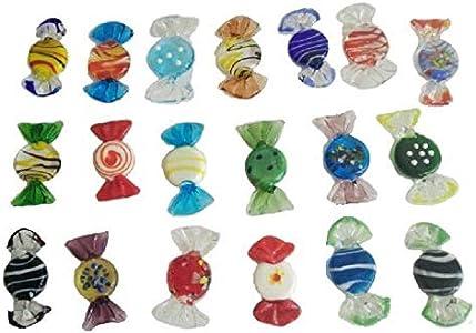 THREE 20 Piezas de Cristal de Murano de la Vendimia del Caramelo de la Boda Partido de Navidad Decoraciones para el hogar, un 20PCS