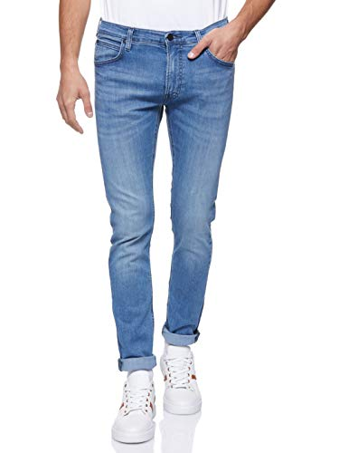 Lee Herren Tapered' Tapered Fit Jeans Luke', Blau (Minimalee Fy), 34W / 32L (Herstellergröße: 34W / 32L)