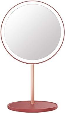 Miroir de Maquillage Miroir Grossissant Miroir De Table Maquillage Miroir LED Beauté Lumière du Jour Miroir De Bureau Portabl