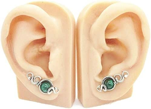 Orbit Model Pair Max 69% OFF of Malachite Wire-Wrapped and Phoenix Mall Sterling Silver