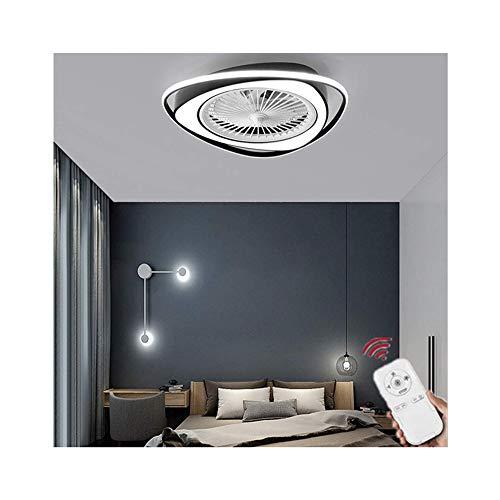 Easttime up Deckenventilator mit Lampe, unsichtbare Ventilator-Licht Dimmbare Moderne LED Deckenventilator mit Beleuchtung Schlafzimmer Fan Kronleuchter, 36W Deckenleuchten für Wohnzimmer
