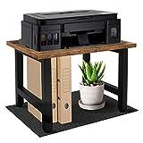 Vintage Desktop Printer Stand with Felt Mat, Single-Layer Desk Shelf Desk Organizer and Bookshelf, Home and Office Organization and Storage for Printers, Fax Machine, Scanner, Office Supplies
