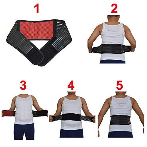 LLZGPZBD rugwervelkolom taille lendensteun riem toermalijn zelfverhitting lichaamshouding corrector