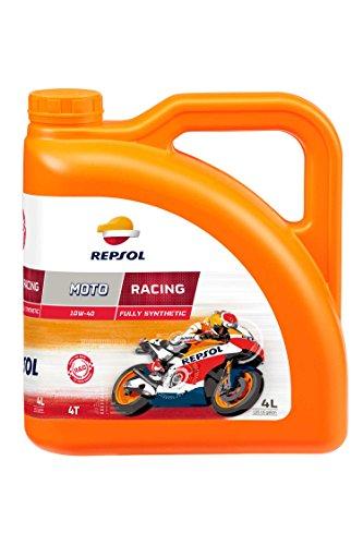 REPSOL Moto Racing 4T 10W-40 Aceite De Motor Para Moto, 4l