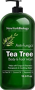 Tea Tree Body Wash - 16 OZ - Helps Jock Itch & Itchy Skin Nail Fungus Athletes Foot Eczema & Body Odor Ringworms - Tea Tree Oil Body Wash For Men & Women - Packaging May Vary