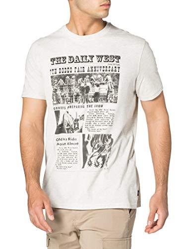 Springfield Camiseta Regular fotógrafo, Multicolor, L para Hombre