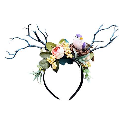 carol -1 Schmetterlings Stirnband Mädchen Hochzeit Party Stirnband Exquisit Schmetterling Haarband Cocktail Tee Party Damen Fasching Kostüm Accessoires Party Stirnband für Frauen Mädchen Schmetterling