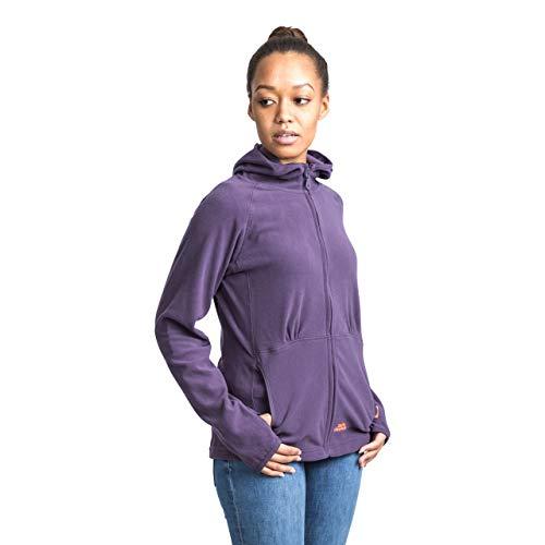 Trespass Marathon, Blackcurrant, S, Ultraleichte Microfleece Jacke mit Kapuze 130g/m² mit Daumenschlaufen für Damen, Small, Violett / Lila