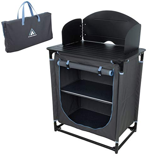 10T Outdoor Equipment Unisex - Adult Camping Kitchen Camp Cook Foldable Cabinet