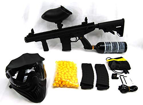 Tippmann Stormer Elite Paintball Package with 200 Rd Loader, 200 Paintballs, Mask, and 20 Oz. CO2 Tank