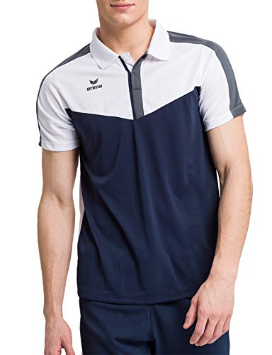 Erima Squad Sport Polo Homme Blanc/New Navy/Slate Grey FR: 3XL (Taille Fabricant: XXXL)